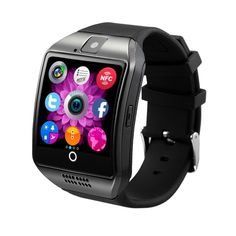 New Q18 Touch Screen Smart watch Wristwatch with Camera NFC For Android Black #Unbranded