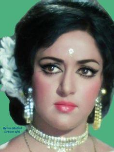 Beautiful Girl Indian, Beautiful Indian Actress, Beautiful Eyes, Beautiful Actresses, Old Film Stars, Hema Malini, Vintage Bollywood, Celebrity Drawings, She Movie