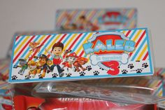 Paw Patrol Personalised Treat Bag Favour Topper  #DrikasPartyCreations #BirthdayChild