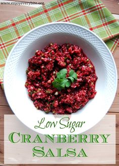 Low Sugar Cranberry Salsa