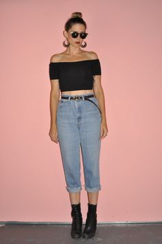 Vintage 80s High Rise Cropped Frayed Faded Lee by WhiteCityVintage