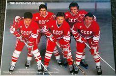 Original SUPER FIVE OF USSR 1988 Russian HOCKEY Poster Larionov Fetisov Krutov + - Sold for $99.99 Jan 2014