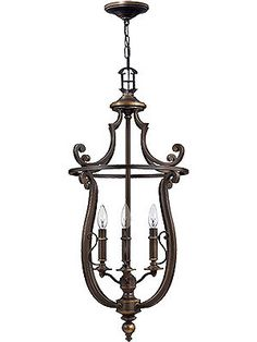 Plymouth 4 Light Hall Pendant In Olde Bronze Finish | House of Antique Hardware