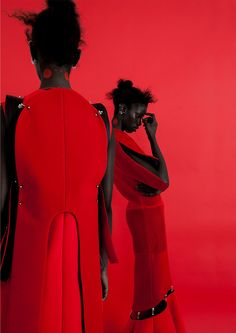 SUPERSelected is the destination for black fashion models, black fashion designers, black alternative musicians, black alternative culture and black lgbt Editorial Fashion, Fashion Art, Fashion Models, Black Fashion Designers, Red Aesthetic, Black Girls Rock, Black Models, Looks Style, Red And Pink