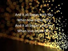 """Music Artist: Toby Mac. Song Title: """"When Love Broke Thru."""" Album: """"This Is Not A Test."""" Genre: Christian Pop. Comments: the lyrics when he says, i did all I could do to undo me, but You [LORD] Loved me enough to pursue me...."""";...... """"You [LORD] brought me out of the shadows, and made me believe that i mattered, to You [LORD]"""" uh hmmm!. ~ via YouTube."""
