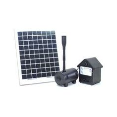 @Overstock.com - 10 Watt Solar Water Pump With Battery Control Timer Box  - This solar-powered water pump is designed for fountains, ponds or other outdoor uses. The sun-powered source of energy can provide energy and electrical savings, while the fountain can run day and night.  http://www.overstock.com/Home-Garden/10-Watt-Solar-Water-Pump-With-Battery-Control-Timer-Box/6721934/product.html?CID=214117 $179.99