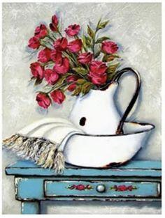 Decoupage Vintage, Painting On Wood, Painting & Drawing, Stella Art, Naive Art, Box Art, Beautiful Paintings, Painting Inspiration, Flower Art