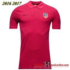 Nouveau Maillot Polo Atletico de Madrid Fuschia Bordeaux 2016 2017 :fr-moinscher 62e7e0eefcb02
