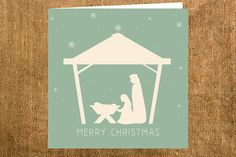 Pack of 12 Nativity Christmas Card by BDdesigns on Etsy, £15.00