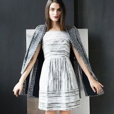 Baby, get your shine on. Metallic dresses, we've missed you.