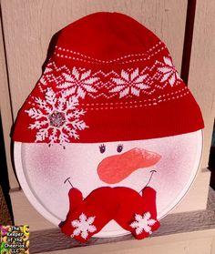 Snowman Pizza Pan door hang |