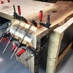 Here's a little clamping jig we use on our waterfalls! Takes less than 5 minutes to make and we use it on every waterfall! We are looking to outfit our shop with new clamps very soon. What is your must have clamp, brand and style?! Please discuss! ⬇ @jimmydiresta  @shanty2chic  @make_it_right  @mikeholmesjr  @katebuilds  @bryanbaeumler  @john_malecki  @mattcremona  @wilker_dos  @magnolia @chippergaines  @joannagaines  @scott_mcgillivray