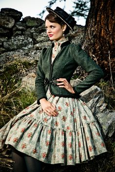 Lena #Hoschek Tradition Autumn Winter 2013/14. Dirndl KATHARINA, Walkjanker FRANZ-JOSEPH