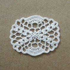 Miniature crochet oval doily by MiniGio