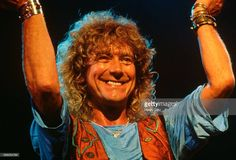 Robert Plant in 1988, Led Zeppelin reunited for the Atlantic Records 40th anniversary party at Madison Square Garden, New York, appearing with Jason Bonham the son of John Bonham by Henry Diltz.
