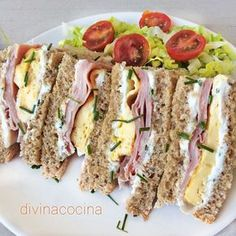 Sándwiches, ideas y recetas rápidas Here you have many ideas to make original and varied sandwiches and sandwiches Tapas, Easy Cooking, Cooking Recipes, Quick Recipes, Healthy Recipes, Food Porn, Brunch Buffet, Snacks, Wrap Sandwiches
