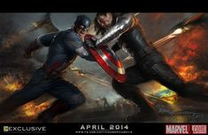 Captain America: The Winter Soldier Art Poster