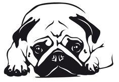 Hunde Wandtattoo: Mops 6 - Tierisch-tolle-Geschenke