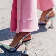 Aneikeh NEW Fashion Sequins PU Women Pumps Elegant Pointed Toe High Heels Weeding Shoes Spike Heel Slingback Ladies Pumps Golden New Fashion, Fashion Shoes, Pump Types, Buy Dresses Online, Color Plata, New Years Sales, Spike Heels, Chunky Heels, Women's Pumps