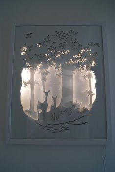 21 Cool DIY Shadow Box Ideas to Keep Your Memories Last Forever! (How to Make your own Shadow box ideas paper cut Handmade paper diorama Paper Cut Art Light Boxes 3d Paper Art, Diy Paper, Paper Crafts, Paper Cutting Art, Diy Crafts, Kirigami, Shadow Box Kunst, Lightbox Art, Cadre Diy