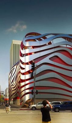 New Petersen Automotive Museum, LA, California