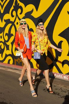Anne Vyalitsyna and Jessica Hart for Harper's Bazaar US March 2013 photographed by Tommy Ton.
