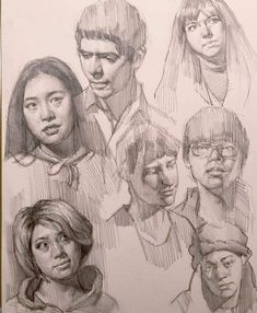 Graphite studies of some of my freshman art students. Figure Drawing, Painting & Drawing, Arte Sketchbook, Portrait Art, Portraits, Art Drawings Sketches, Art Tutorials, Art Inspo, Art Reference