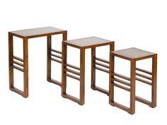 Juego 3 mesas nido de madera