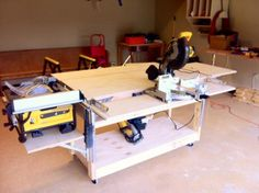 Do-It-All Mobile Workbench with casters - possible use of my material (cast polyamide) for the casters
