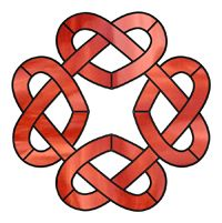 Celtic knot. Open areas within the infinity pattern enhance the design.