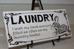 funny laundry signs | Laundry Wooden Sign Perfect Gift Funny Sign gift by SammyandEva, $22 ...