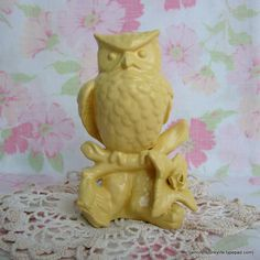 Painted Owl Figurine. Upcycled Home Decor. Willow Moon Vintage on Etsy.