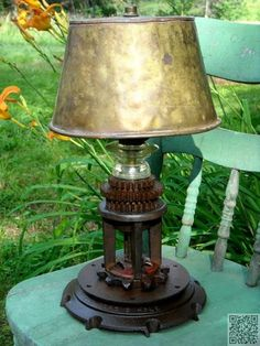 4. #Gears - 9 Chic DIY Industrial Lamps to Make for Your Home ... → DIY #Industrial