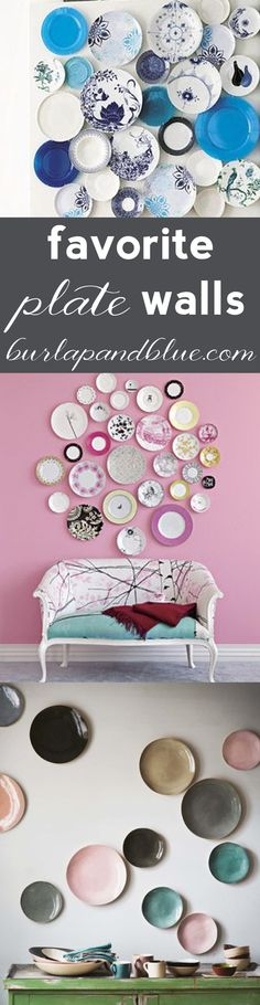 favorite plate walls! #plates #platewalls