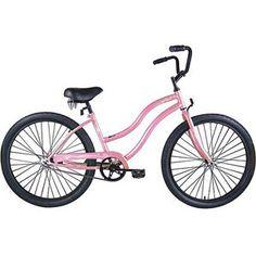 "26"" Micargi Women's Beach Cruiser Bike, Pink Touch"