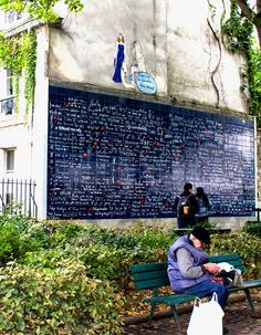 The I Love You Wall - Jehan Rictus Square, Nr Abbesses, Paris