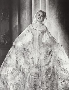 Norma Shearer, 1938, in a costume by Adrian for the film Marie Antoinette