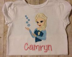 Elsa From Frozen D2 Personalised Children/'s T-Shirt Kids tshirt Including Name