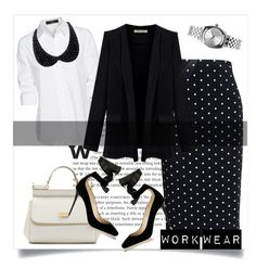 """""""Work wear"""" by jelena-678 ❤ liked on Polyvore featuring Givenchy, Steffen Schraut, Dolce&Gabbana, Jimmy Choo, CO and Nixon"""