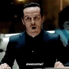 Moriarty could throw me off a building and I'd still call him adorable..