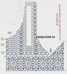 Katia Ribeiro Acessórios: Bolero em crochê com gráfico