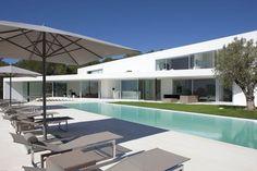 Stunning #minimal #ibiza #villa, large pool