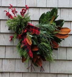 Switch up your traditional wreath with a festive and whimsical chicken wreath for this year's holiday season