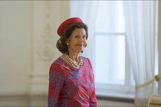 La reine Silvia de Suède à Vilnius, le 7 octobre 2015