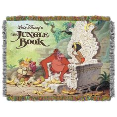 """Disney The Jungle Book, King Louie Tapestry Throw by The Northwest Company, 46 by 60"""""""