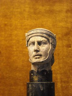 A little ivory head of gladiator from Pompeii - Naples, Archaeological Museum