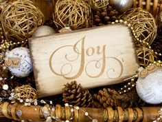 Joy Wood Sign, Christmas Wooden Sign, Metallic Sign, Farmhouse Style, Shabby Chic, Holiday Sign, Rustic Distressed Christian Inspirational by TinSheepShop on Etsy