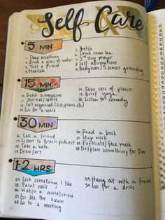Easy Bullet Journal Ideas To Well Organize & Accelerate Your Ambitious Goals - Tipps fürs leben - Care Self Care Bullet Journal, Bullet Journal Notebook, Bullet Journal Ideas Pages, Bullet Journal Inspiration, Journal Prompts, Journal Pages, Bullet Journal Mental Health, Goal Journal, Bullet Journal Ideas For Students