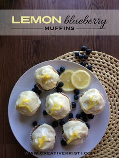 Lemon Blueberry Muffins with Young Living essential oil to enhance the flavor. Amazing!