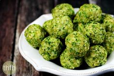 Clean Eating Raw Broccoli Balls recipe...made with real food, with or without a dehydrator, are healthy, raw, vegan, gluten-free, dairy-free, egg-free, paleo